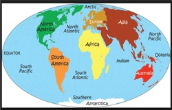 Ms Puttkammer Useful Links - Seven continents and five oceans